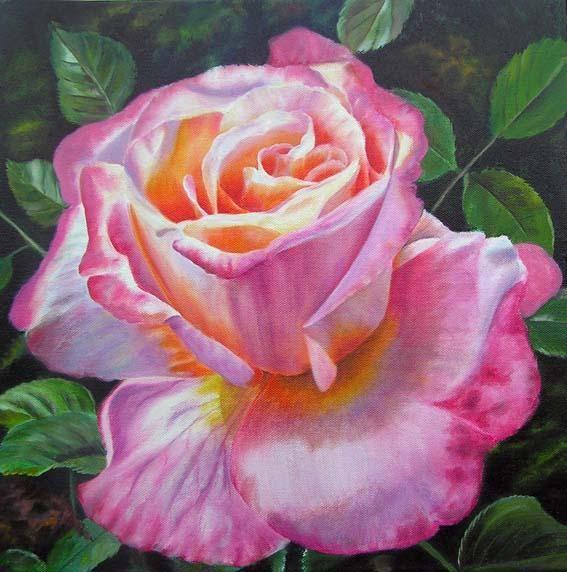 Beautiful Rose Paintings By Doris Joa Rose Oil Painting Flower