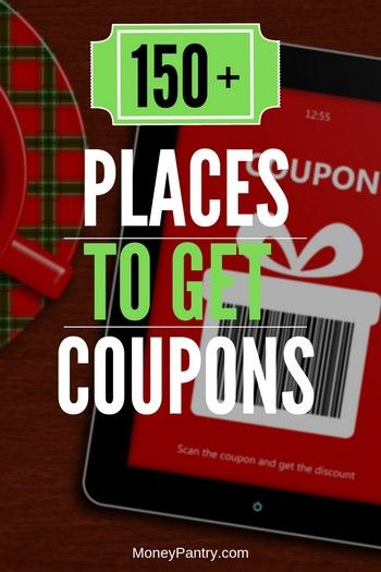 Where Can I Get Coupons? 154 Places to Get Coupons (for Everything!) - MoneyPantry