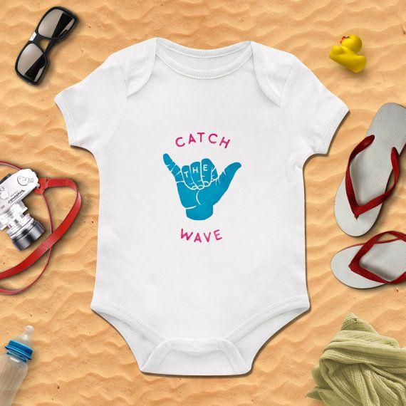 Catch The Wave Surfing Boys Bodysuit Boys Onesie Baby Clothing Baby