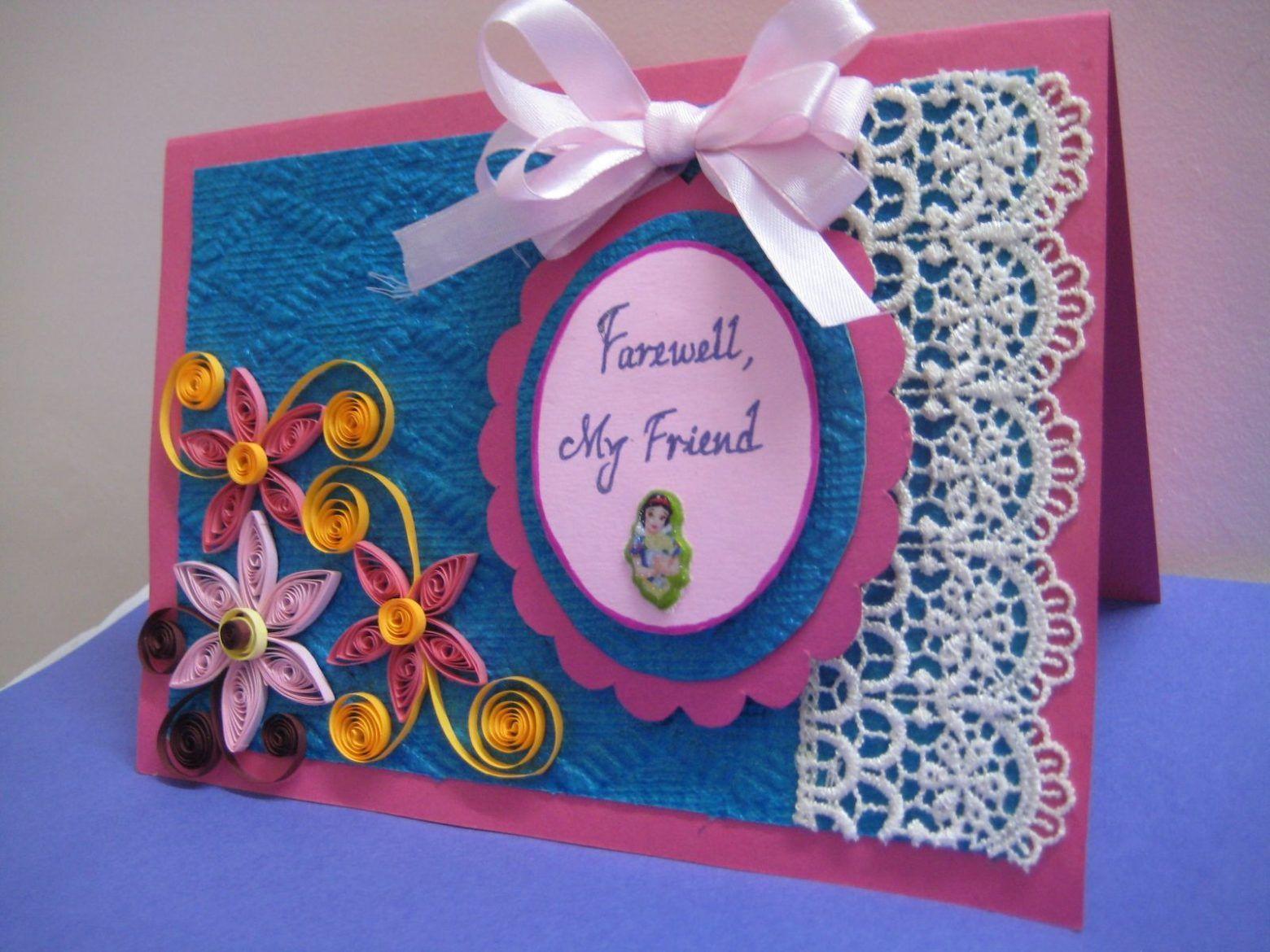 8 New Ideas Make A Farewell Card Card Design Handmade Handmade Invitation Cards Cards Handmade