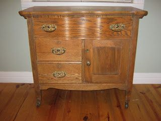 Antique Wash Stand, i think would be a great tv stand
