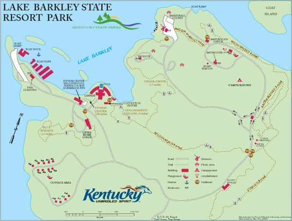 map of lake barkley kentucky Lake Barkley State Resort Park Map Lake Resort Island Resort map of lake barkley kentucky