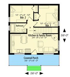 Plan 22458dr Tiny Weekend Getaway House Plan With Options Tiny House Floor Plans Cabin Floor Plans House Plans