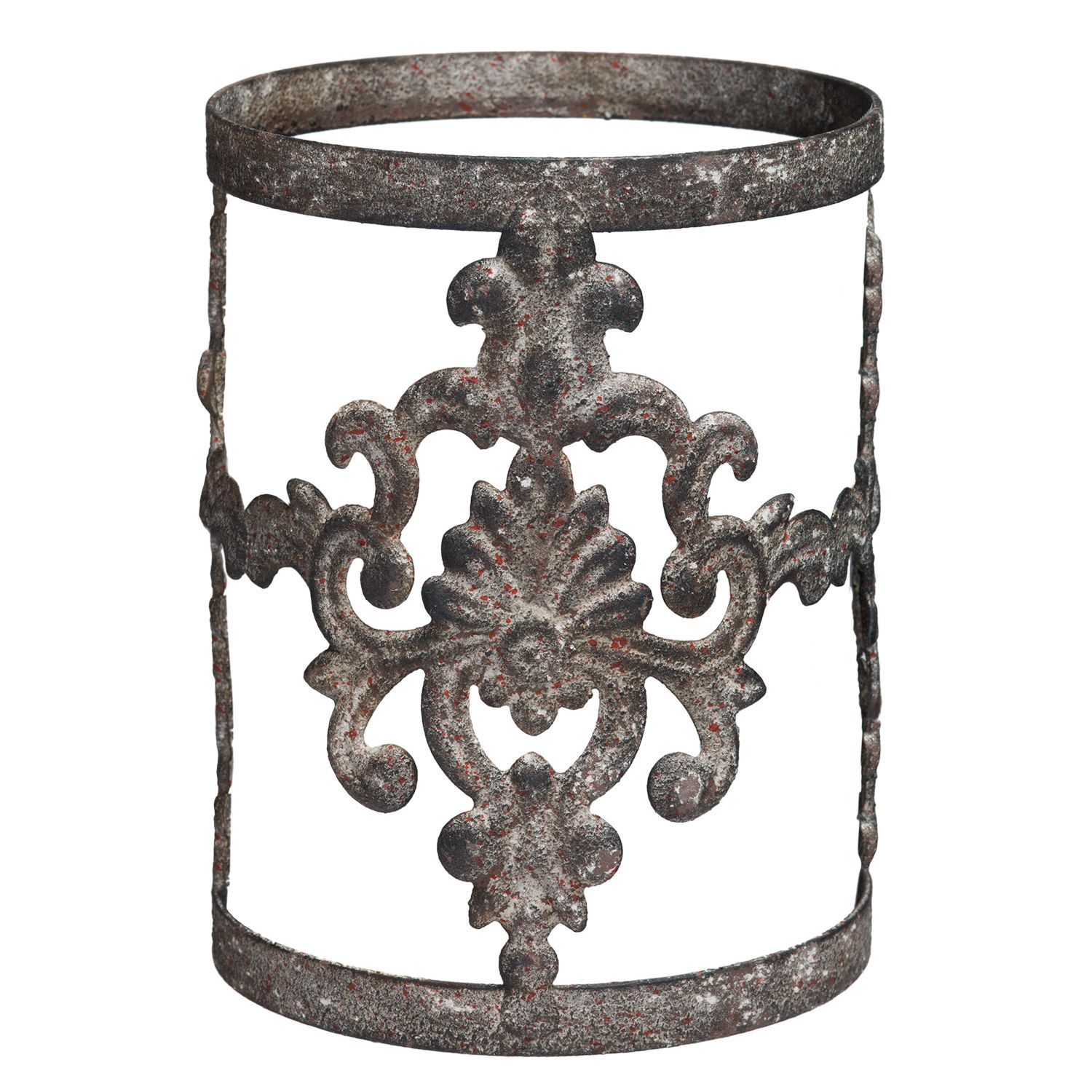 Damask scentsy warmer wrap raw metal worked into