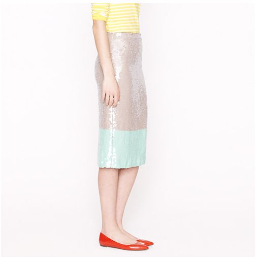 J.Crew Collection - Pencil skirt in colorblock sequin -       http://www.jcrew.com/womens_category/skirts/pencil/PRDOVR~79046/79046.jsp