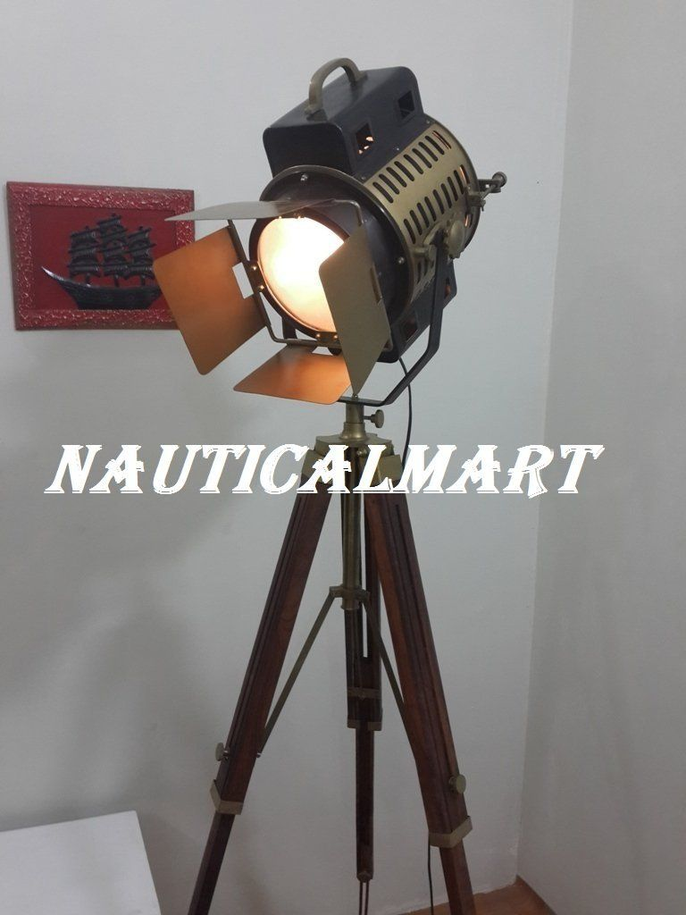 Spotlight Thor, Vintage Style, Headlight Look, Antique Style, With Tripod,  Lamp