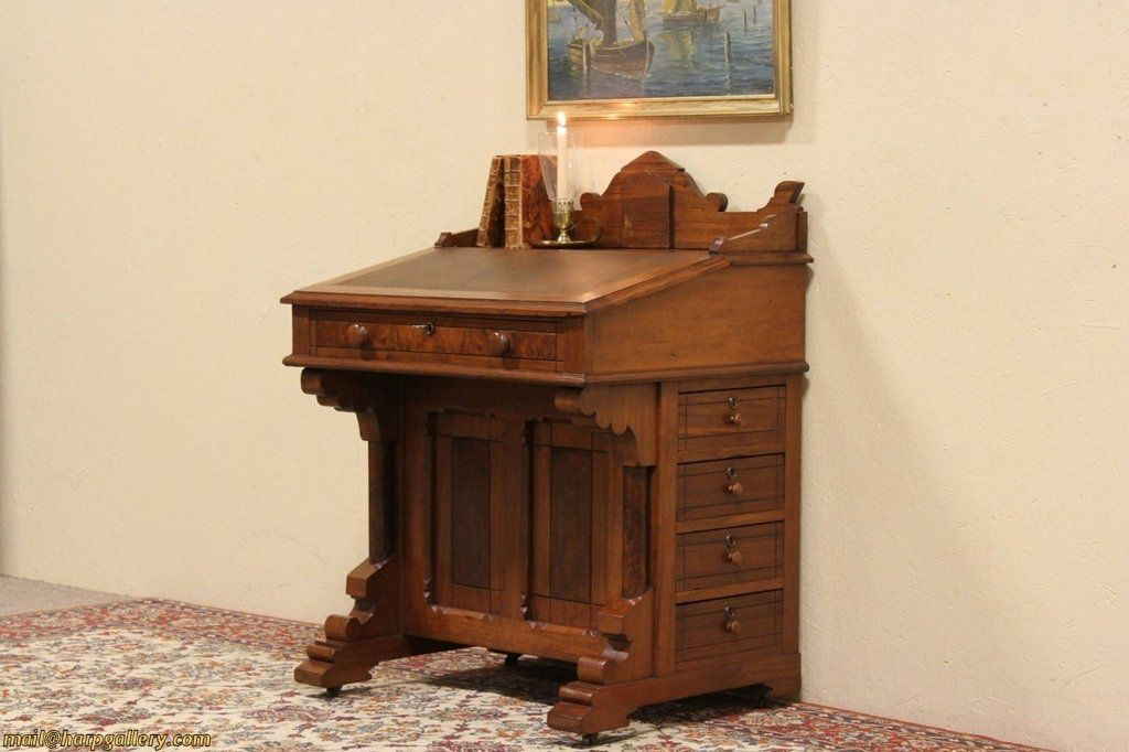 Carved of solid walnut with burl about 1885, a ship ...