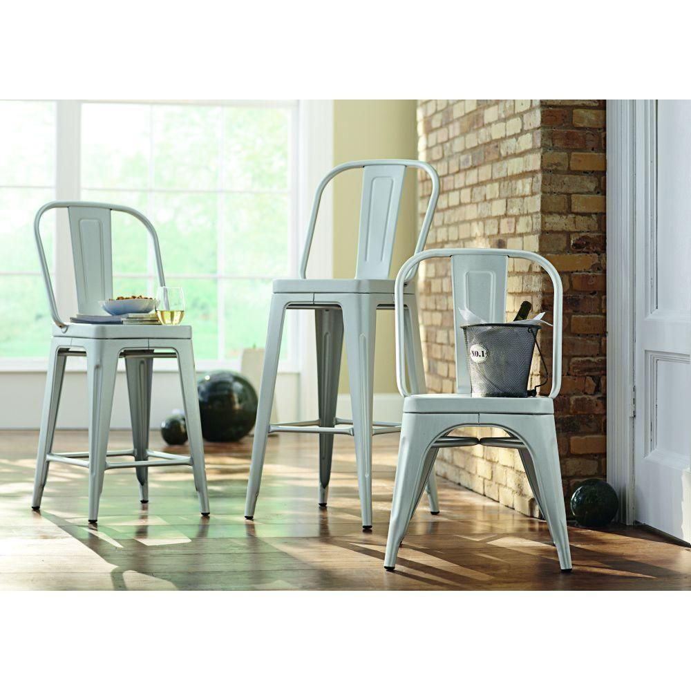 Garden 40 in. H Blue Counter Height Stool