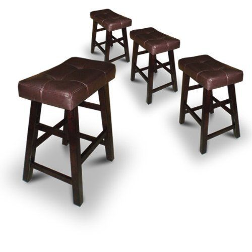4 24 Saddle Back Espresso Bar Stools With Images Espresso Bar Stool Bar Stools Wooden Bar Stools