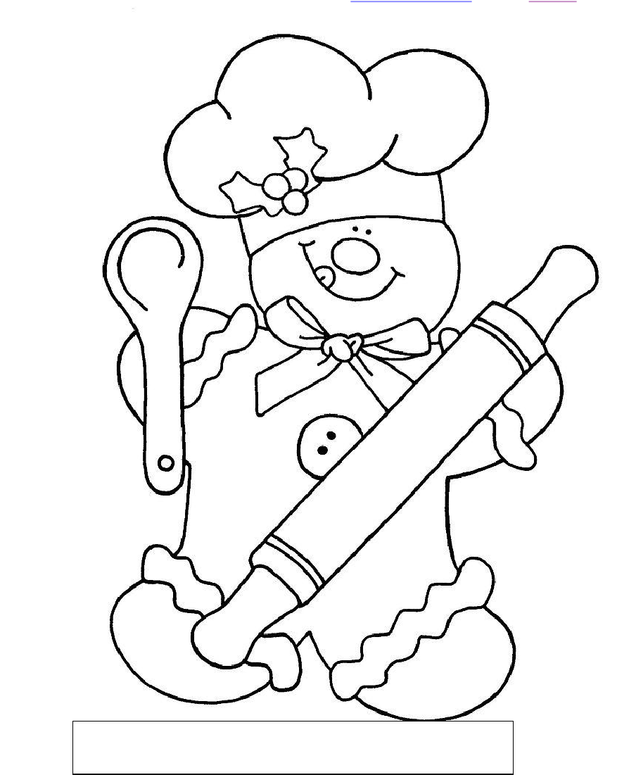 Gingerbread chef color by sum coloring pages pinterest