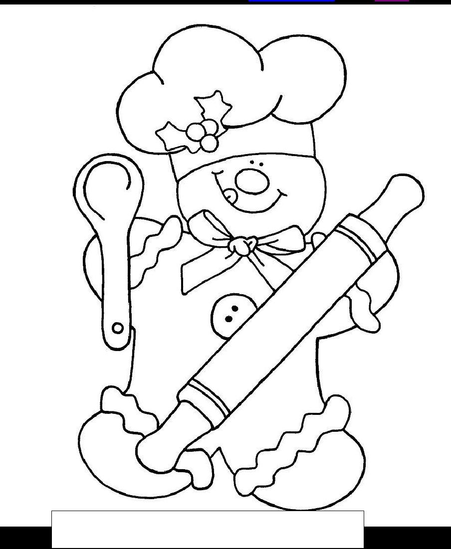 gingerbread chef colorsum  patterns/printables