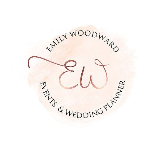 Branding Package Logo Rose Gold Wedding Planner Blog