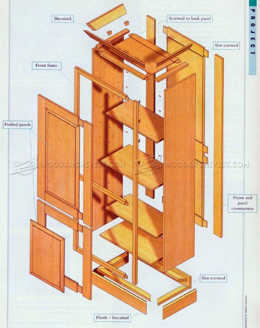 46 Tall Cabinet Plans - Furniture Plans | Kitchen | Pinterest ...