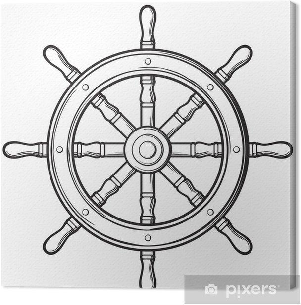 Rudder Ship Wheel Canvas Print Pixers We Live To Change In 2021 Ship Wheel Tattoo Helm Tattoo Nautical Tattoo