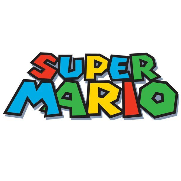 Super Mario Logo Letras De Mario Bros Fiesta De Cumpleanos De