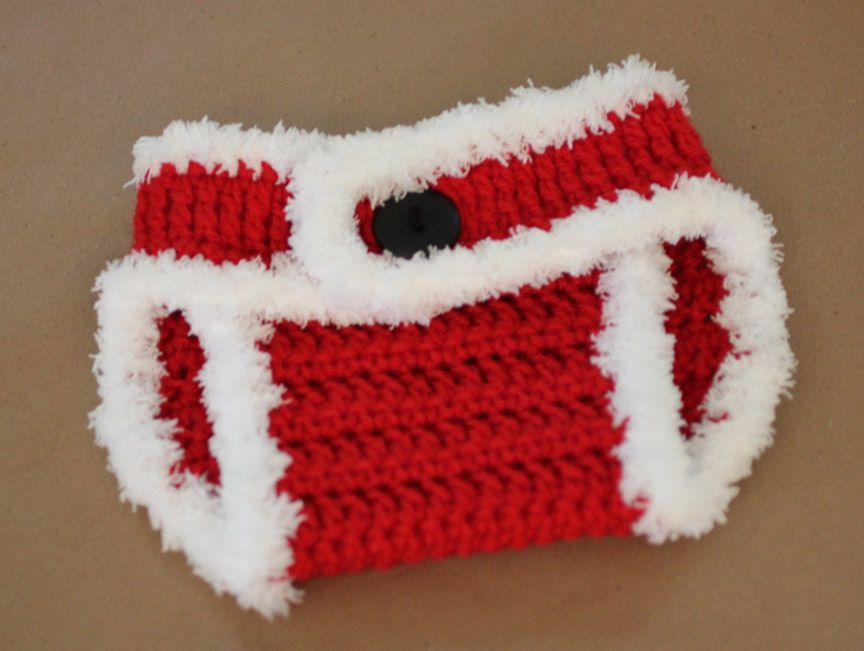 Repeat Crafter Me Crochet Santa Hat And Diaper Cover Crochet