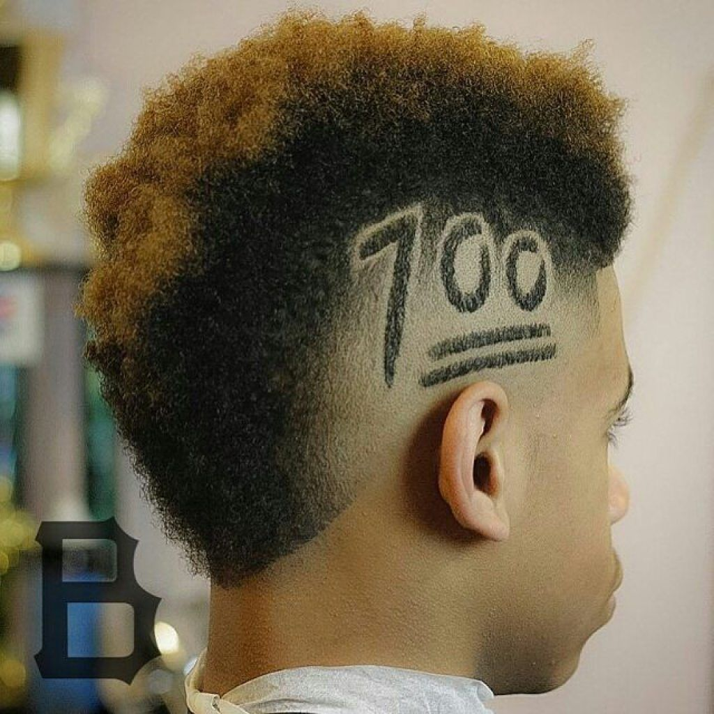 mohawk fade design haircuts