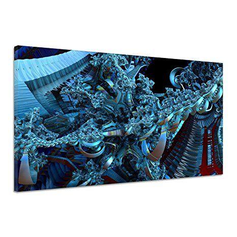 Fraktale Figuren Machen Fantasie Hintergrund Leinwand Poster Druck