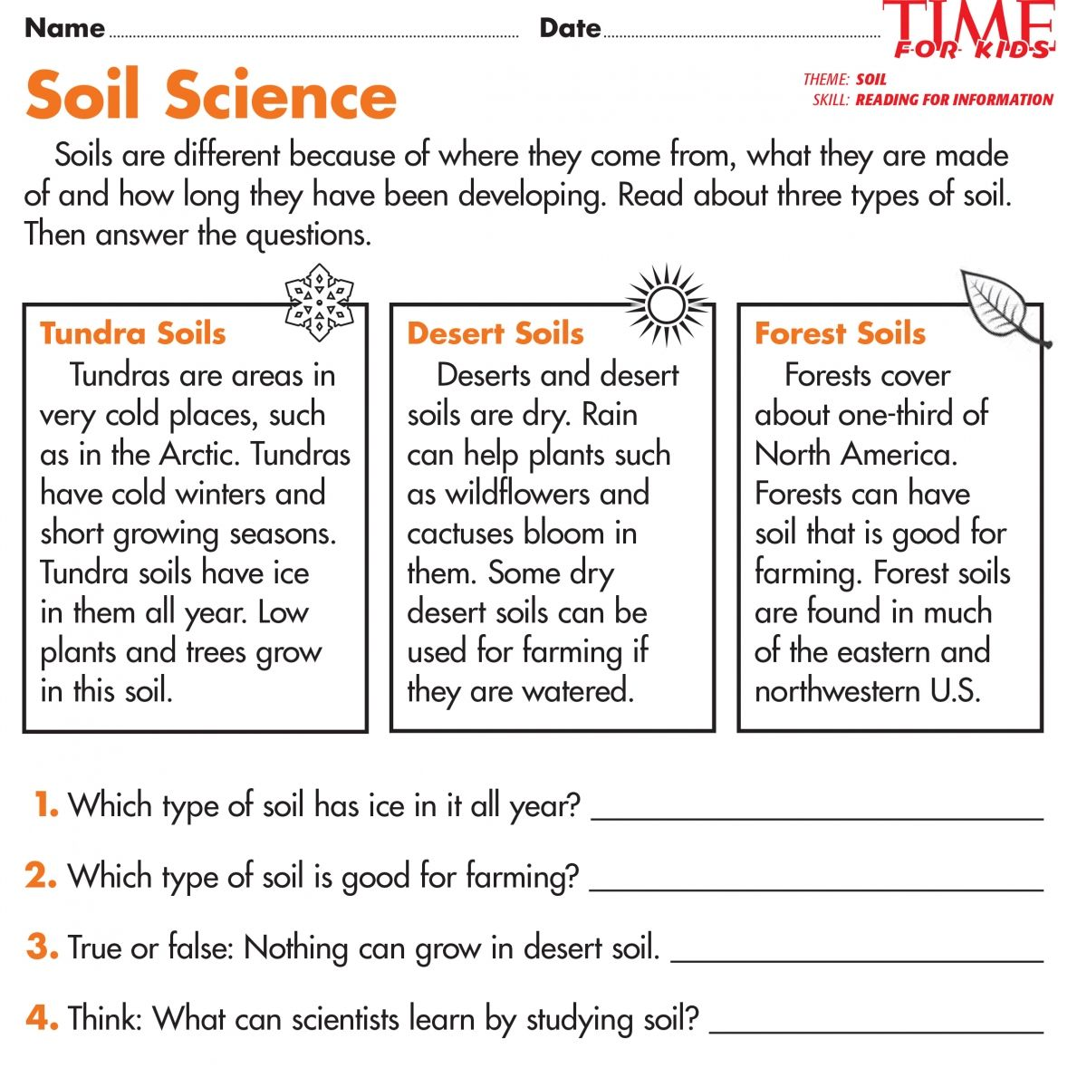 Free 1st Grade Worksheet Science Pictures