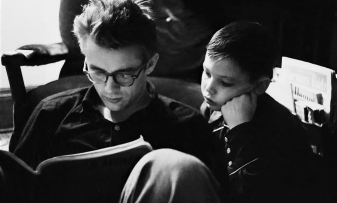 James Dean with his cousin Marcus Winslow Jr.      by Dennis Stock