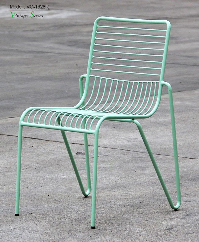 Triumph Outdoor Indoor Furniture Mesh Stackable Wire Dining Chair
