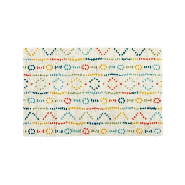 Graphic Wool Rug 4'x6' | Crate and Barrel