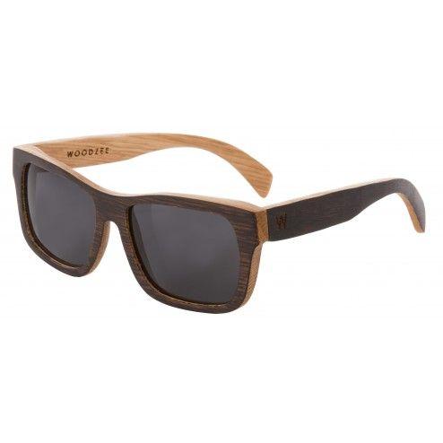 Dakota Recycled Oak Whiskey Barrel Sunglasses - Smoke | Woodzee.com