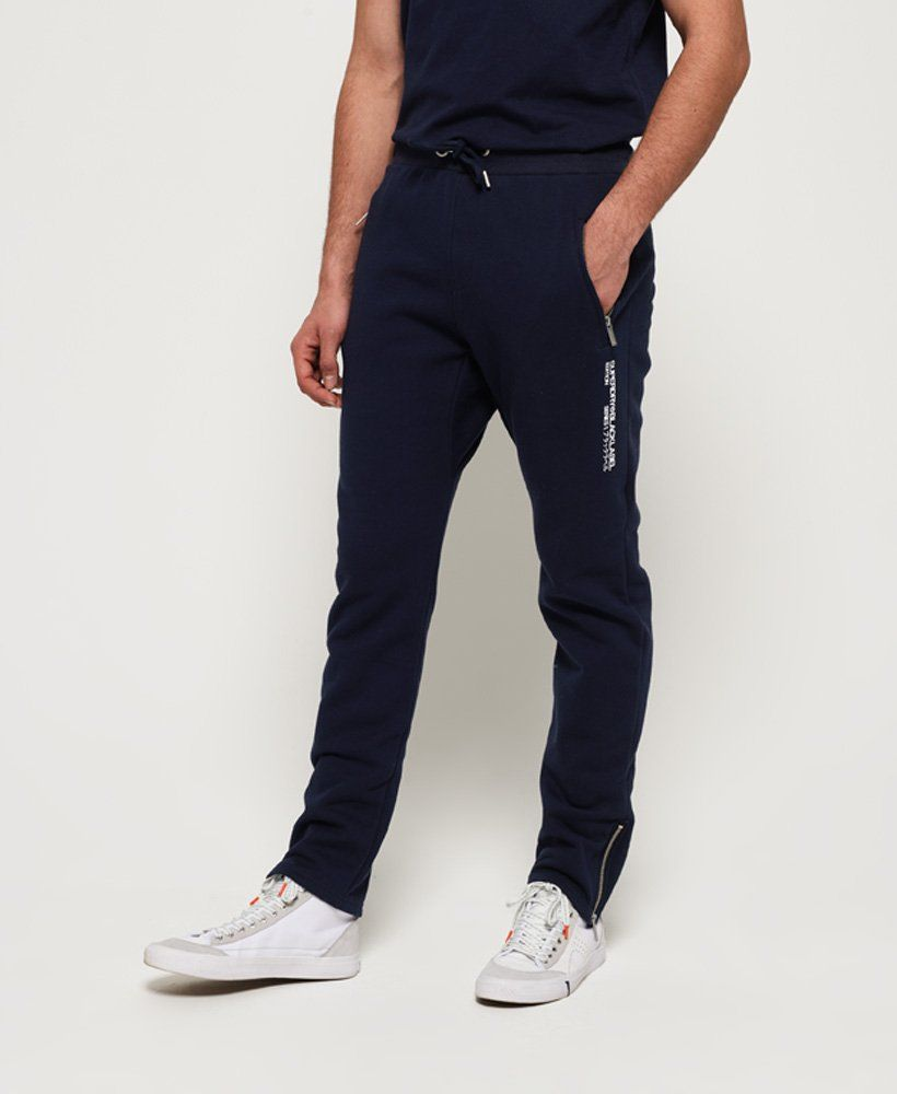 Mens Black Label Edition Joggers In Marine Navy Superdry Hoodies Men Womens Workout Outfits Mens Sweatpants