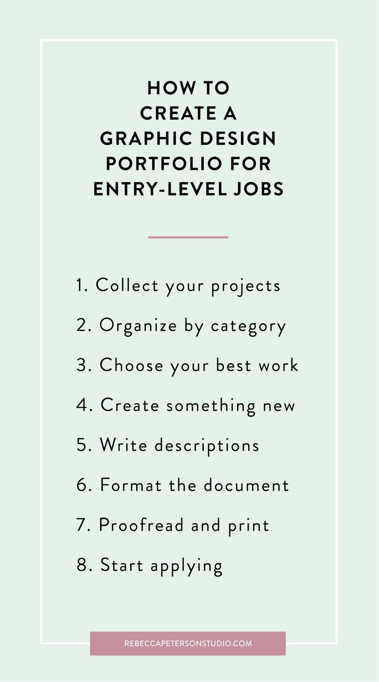 How To Create a Graphic Design Portfolio for Entrylevel