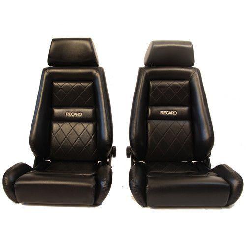 2 Jdm RECARO LX Knee bolster BLACK Leather NET HEADREST