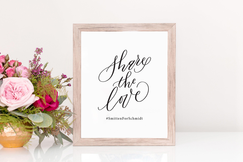 17+ Wedding hashtag sign etsy info