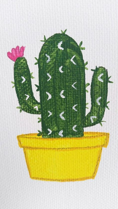 Best Painting Acrylic Easy Cactus Ideas