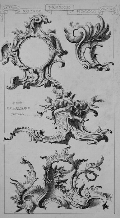 Rocaille A 18th Century Artistic Or Architectural Style Of Decoration Characterized By Elaborate Ornamentation