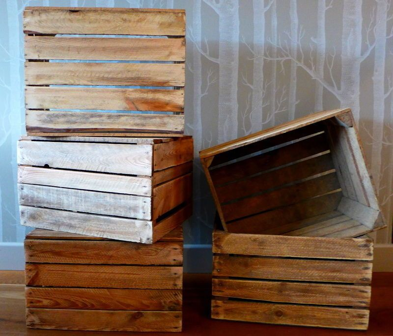 Boxes Are Strong And Solid Each Of Them Is Ground And Cleaned On The Surface We Re Sending Boxes Through Dpd Wooden Apple Crates Apple Crates Rustic Wood Box