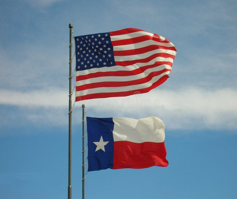 American And Texas Flags The Us American Flag Flies Above The Texas Flag With Affiliate Flags Flag American Texas Flags American Flags Flying Flag