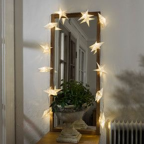 Papiersterne Weihnachtsbeleuchtung.Dekorative Led Lichterkette Papiersterne 12 Flg