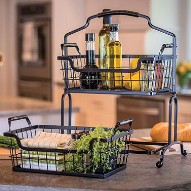 Pin By Rachana Uid On Home Decor In 2020 Wire Basket Storage Wire Baskets Organize Kitchen Spices