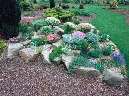 Giardino roccioso fai da te foto idee e consigli giardini haveideer haver e blomster - Giardini con pietre bianche ...