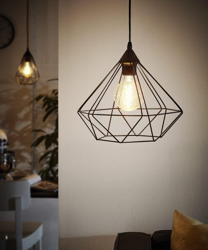 Eglo 94194 Tarbes Vintage Copper Wire Cage 1 Lamp Pendant Light The Is Part Of Lighting Range