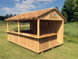 Bar shed tiki pool house design pinterest bar tiki for Pool shed with bar plans