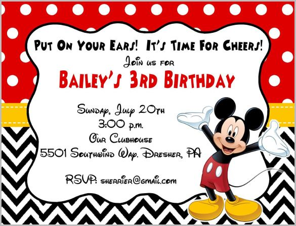 Pin by Sharon on Mickey party Pinterest Mickey party - mickey mouse invitation template