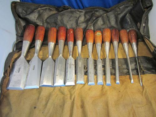 Stanley No 50 Everlasting Bevel Edge 12 Wood Chisel Set
