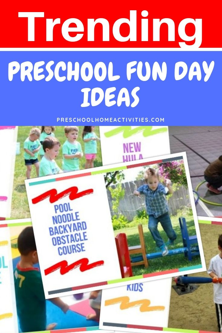 Trending Preschool Fun Day Ideas Preschool Home Activities Pool