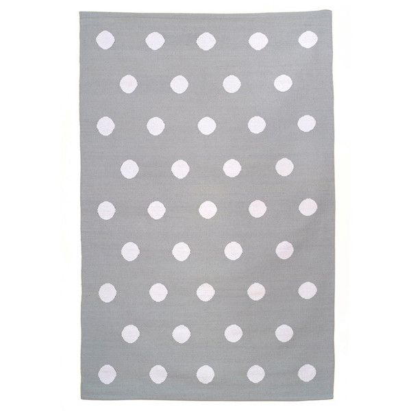 Greenich Rug 5x8 Grey And White Polka Dot Cotton Dhurrie Area 1 560 Hrk