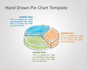 hand drawn pie chart template for powerpoint ms access pinterest