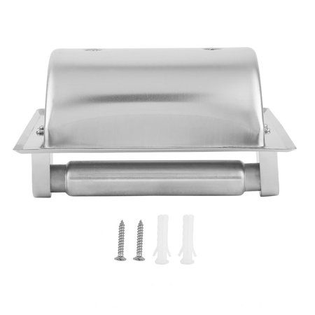 Recessed Toilet Paper Holder Stainless Steel Paper Roller Wall