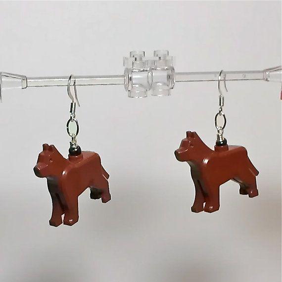 LEGO Dog Earrings by ValGlaser on Etsy, $10.99