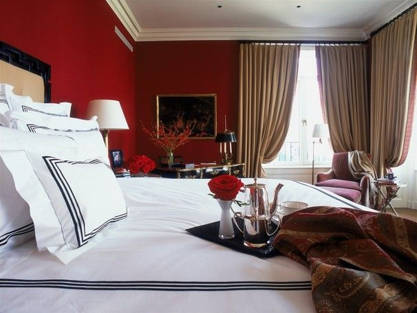 Decorating With Spicy Sophisticated Oxblood Bedroom Red