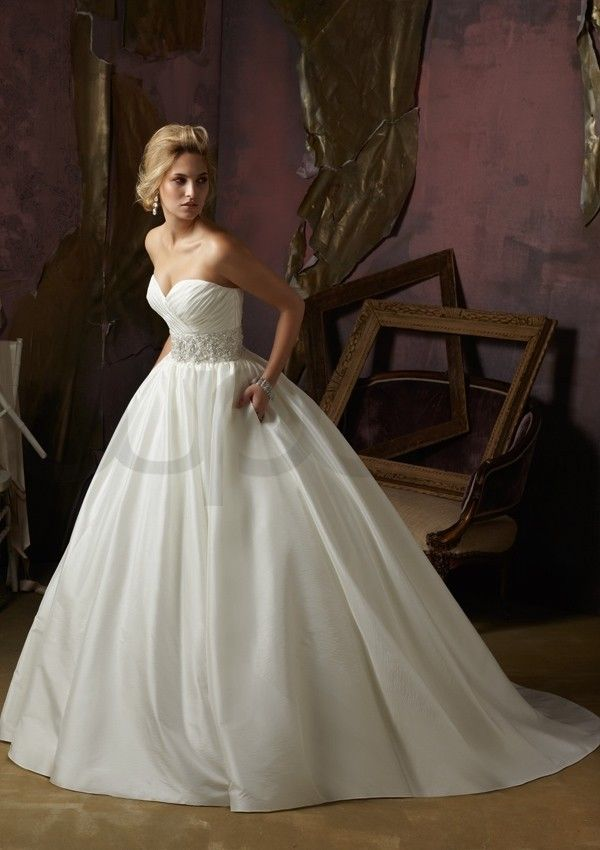 Luxe Taffeta Ball Gown Strapless Wedding Dress