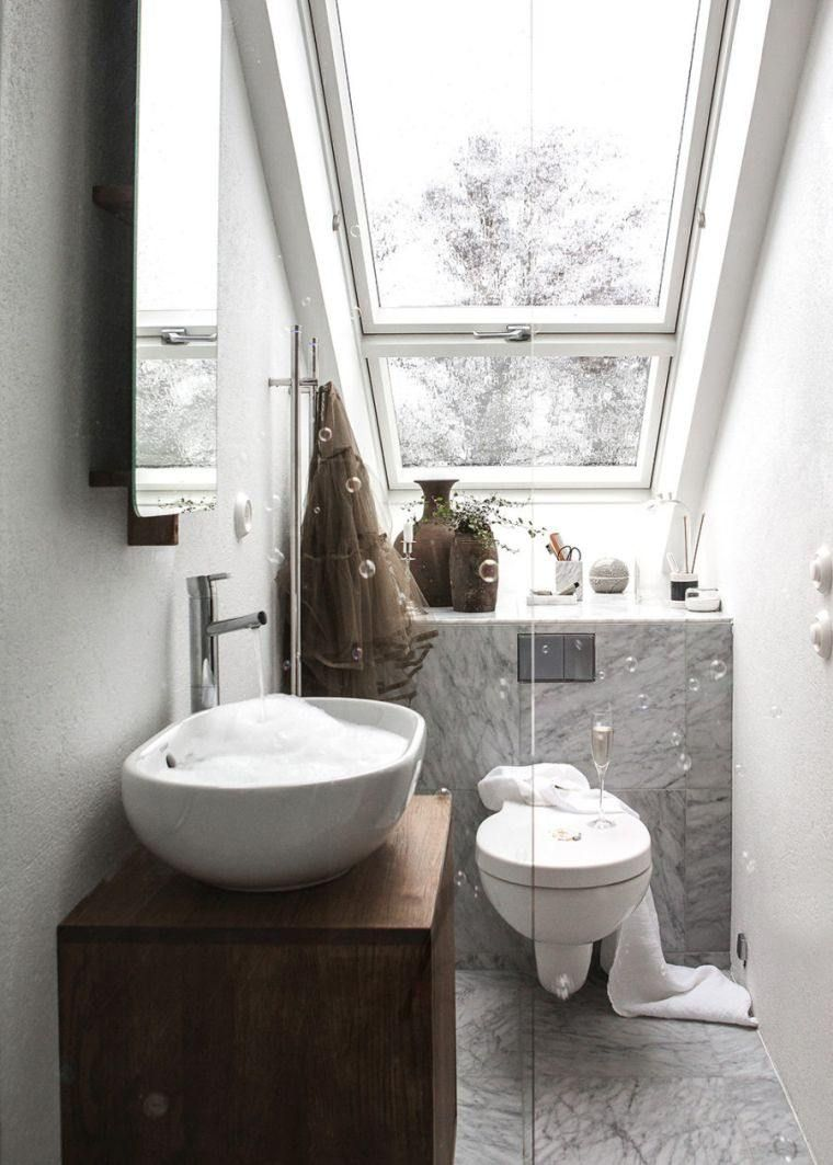 rnovation de salle de bain de petite taille et meuble en bois moderne